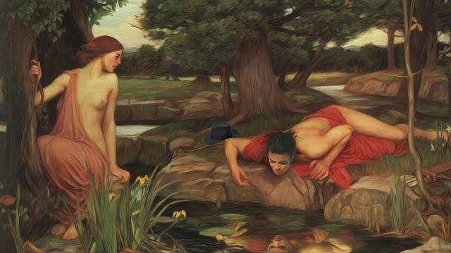 Annette Jung: Narziss - nach einem Gemälde von John William Waterhouse